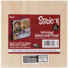 darice studio 71 unfinished wood wall panel 1pc 6x6x1 inches