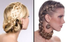 braided updo hairstyles hair salon formal for women medium hair