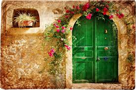 house doors vintage loveliness the old town stone house doors pattern crimson