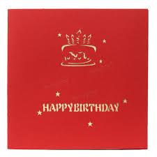 3d Invitation Card Handmade 3d Pop Up Happy Birthday Greeting Card Invitation Card At