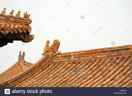 china peking imperial palace roof ornament stock photo royalty