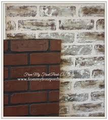 faux brick backsplash photo of 24 more like home diy faux brick