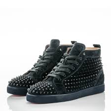 christian louboutin mens suede louis spikes flat sneakers 45 nuit