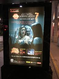 win free halloween horror nights tickets bus stop advertising the innovative approach mummy rei lobang