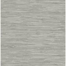Self Stick Wallpaper by Shop Wallpops Peel And Stick Gray Vinyl Grasscloth Wallpaper At