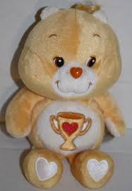 care bear champ plush light orange trophy tummy carlton card bean