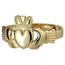 claddagh rings 14k hollow back gents claddagh ring men s rings mens jewelry