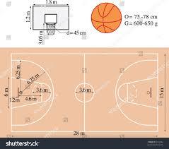 Basketball Court Floor Plan Dimensions Basketball Playground Stock Vector 2912662 Shutterstock