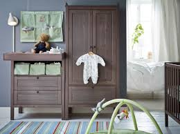 Brown Changing Table A Baby Room With Grey Brown Sundvik Changing Table Wardrobe And