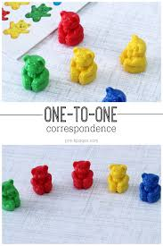 pre k math one to one correspondence activities for preschool