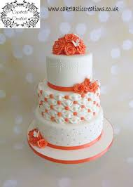 coral wedding cakes billowing pillows coral wedding cake cake by caketastic