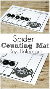 halloween activities for preschoolers printable spider counting mats free great for counting number sense