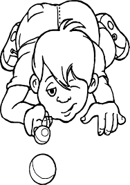 kid playing and kicking marbles coloring page wecoloringpage