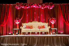 ideas about simple wedding stage red color decoration design