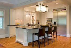 kitchen island with barstools black leather bar stools transitional kitchen dean poritzky