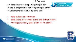 chandler high international baccalaureate programme ppt