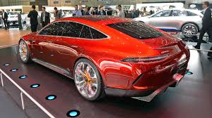 mercedes amg concept mercedes amg gt concept has 805 hybrid horses and four doors