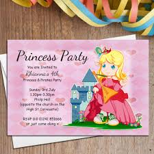 Princess Birthday Invitation Card 10 Personalised Princess Birthday Party Invitations