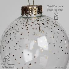 5 minute diy gold dot ornament setting for four