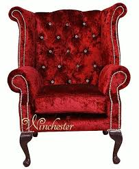 High Back Wing Armchairs Chesterfield Swarovski Queen Anne High Back Wing Chair Boutique