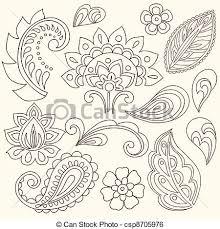 henna paisley tattoo doodles vector henna mehndi tattoo clip