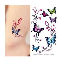 colorful butterfly sticker waterproof temporary tattoos