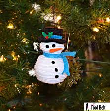 5th day of stacked felt snowman ornament tool belt