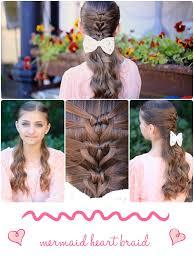 cute girl hairstyles diy mermaid heart braid cute valentine s day hairstyles cute girls
