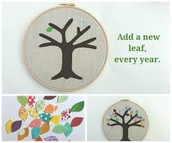 second wedding anniversary gift cotton anniversary gift add a new leaf each year of