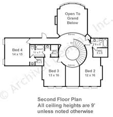 2nd Floor House Plan by Centre Parke Neoclassic House Plan House Plan Designer