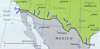 map usa y mexico mexico usa border map travel america immigration