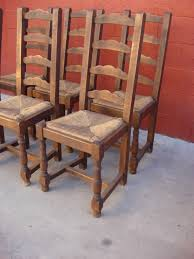 Furniture Set Of  French Rustic Dining Chairs Antique Dining Room - Antique dining room furniture