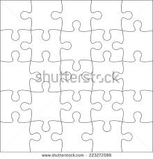 20 jigsaw puzzle blank template cutting stock vector 242574817