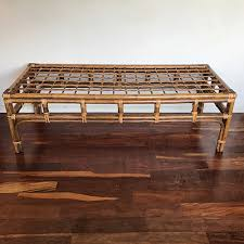 bamboo and rattan bench good eye gallery