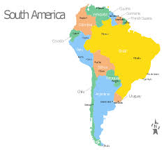 a map of south america south america map with capitals template