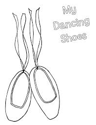 ballerina shoes dancing shoes coloring pages ballerina shoes