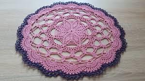 crochet round doily pink centerpiece crochet home decor table