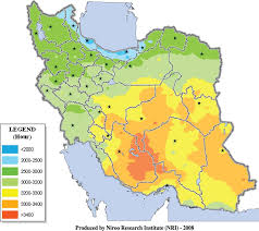 map iran map of annual hours of iran
