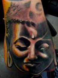 buddha hand tattoo mind blowing buddha head tattoo make on hand tattooshunter com