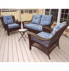 four piece better homes and gardens patio furniture set ebth