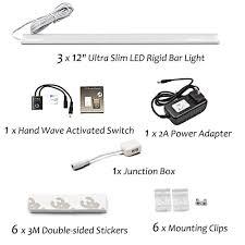z wave under cabinet lighting 18w linkable under kitchen cabinet led ls 12 inches hand wave