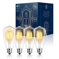 edison light bulb l top rated led edison light bulbs 4w st64 warm colour 2300k pack