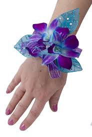blue orchid corsage orchid blue bomb wrist corsage soderberg s floral and gift