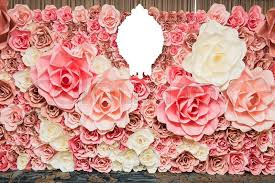 wedding flowers background wedding background pink paper flowers stock photo colourbox
