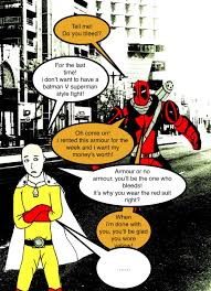 one punch man deadpool v one punch man do you by sentry1996 on deviantart