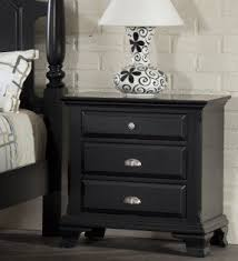 Black Wood Nightstand Solid Wood Nightstands Foter