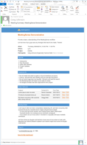 Managers Meeting Agenda Template by Online Team Collaboration Business Meeting Software
