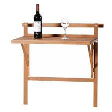 patio wise condo u0026 balcony folding table space saver birch wood