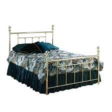 chelsea queen size bed with rails classic brass products