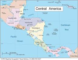 map of central and south america with country names country information and maps
